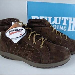 Duluth Trading Suede Leather Ankle Hiking Boots